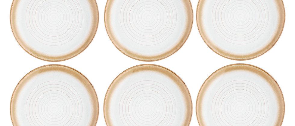 Assiette COSMOS Ø27,5cm - 6 pièces - Crème