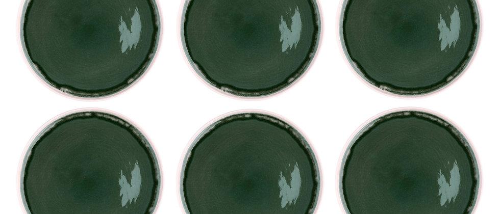 Assiette OXYGEN Ø27cm - 6 pièces - Vert de gris