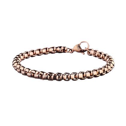 Bracelet Agnettes rose doré - acier