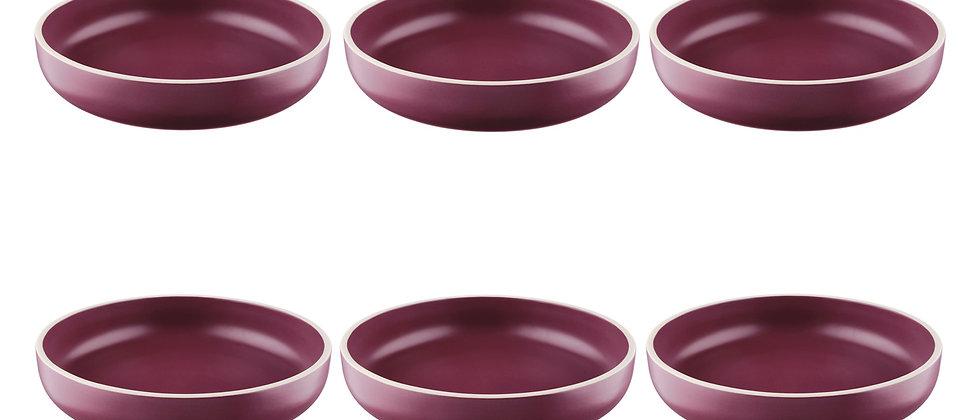 Assiette creuse ORIGIN Ø22cm - 6 pièces - Prune