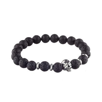 Bracelet Belleville noir - pierres naturelles