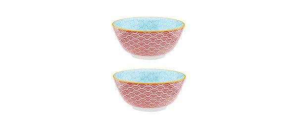 Bol petit-déjeuner Ø15cm Rainbow - 2 pièces - Collection COLOR