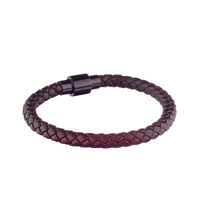 Bracelet Ourcq marron - cuir