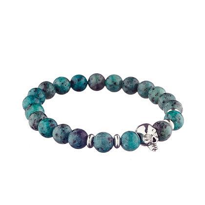 Bracelet Belleville vert - pierres naturelles