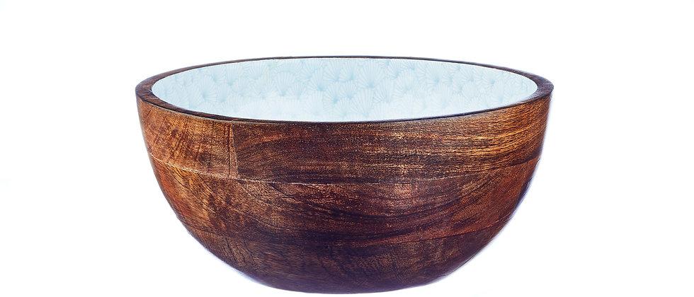 Saladier en bois de manguier Ø24cm - Jungle Pastel