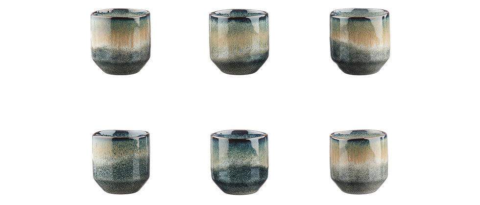 Tasse GENESIS 15cl - 6 pièces - Terre