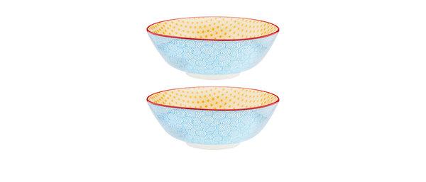 Bol à salade Ø21cm Swirl - 2 pièces - Collection COLOR