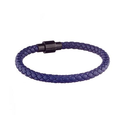 Bracelet Ourcq bleu - cuir