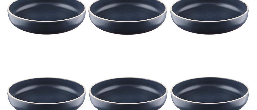 Assiette creuse ORIGIN Ø22cm - 6 pièces - Basalte