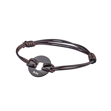 Bracelet Argentine marron