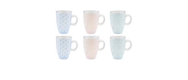 Tasse à café 9cl - 6 pièces - Collection PASTEL
