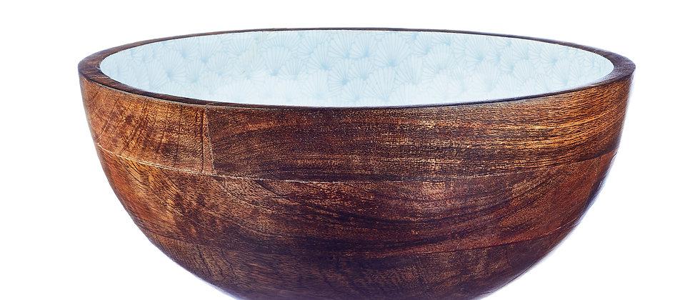 Saladier en bois de manguier Ø30cm - Jungle Pastel