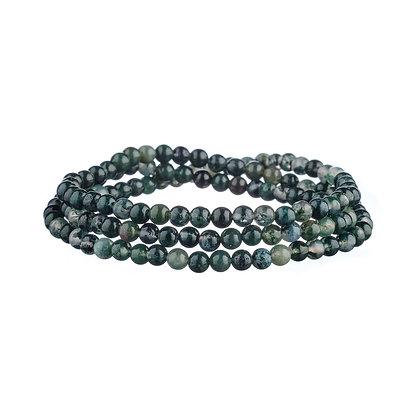 Bracelet Tuileries noir et gris - pierres naturelles