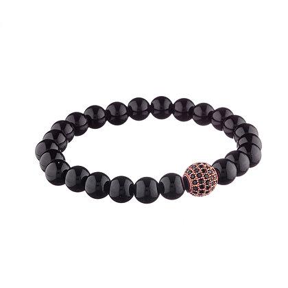 Bracelet Tolbiac cuivré - pierres naturelles