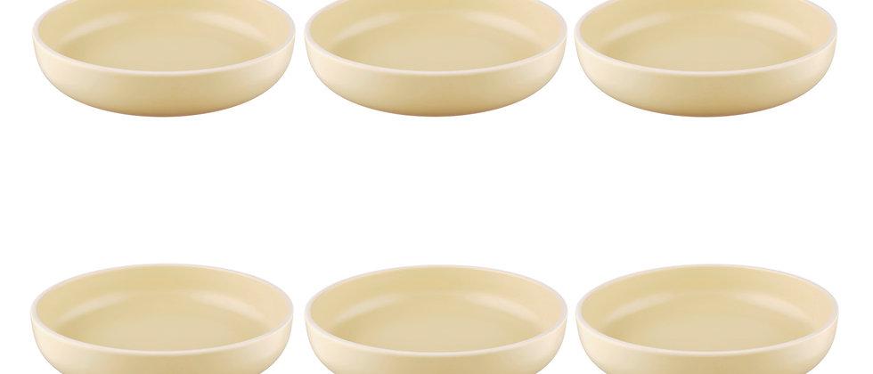 Assiette creuse ORIGIN Ø22cm - 6 pièces - Sable