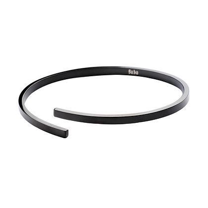 Bracelet Richelieu noir - acier