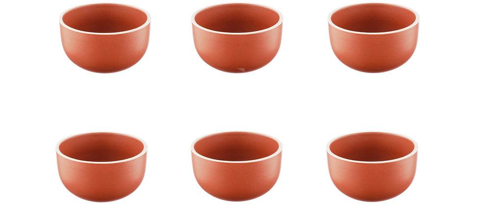 Bol ORIGIN Ø9cm - 6 pièces - Terracotta