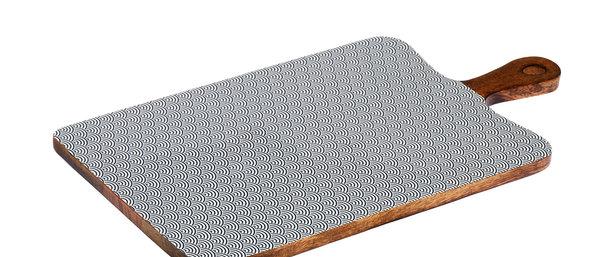 Planche de service en bois de manguier 27x48cm - Wave Dark
