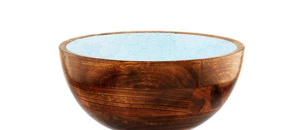 Saladier en bois de manguier Ø24cm - Swirl Color