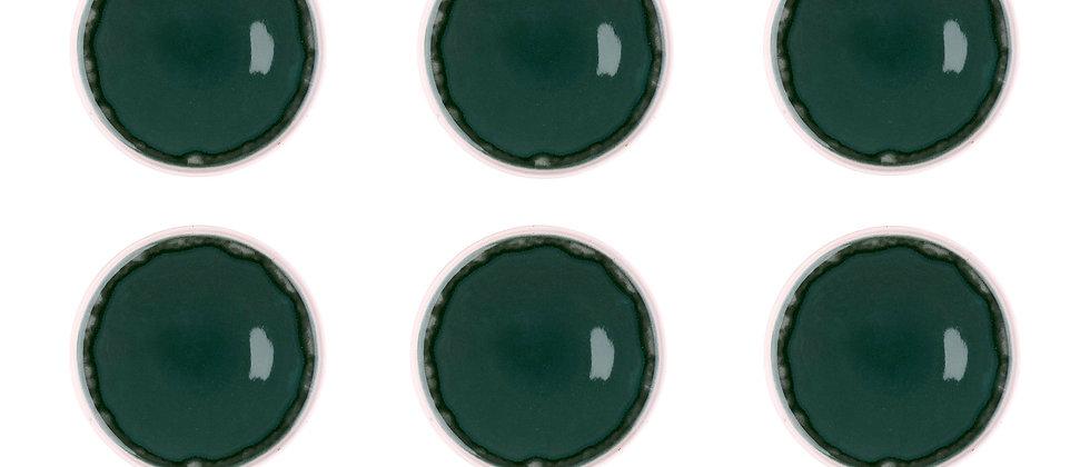 Assiette OXYGEN Ø21,5cm - 6 pièces - Vert de gris