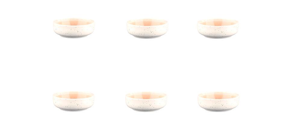 Bol OXYGEN Ø9cm - 6 pièces - Rose poudre