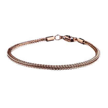 Bracelet Versailles rose doré - acier