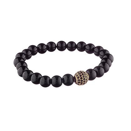 Bracelet Tolbiac doré - pierres naturelles