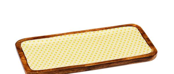 Plateau de service rectangulaire en bois de manguier 20x40cm - Star Color