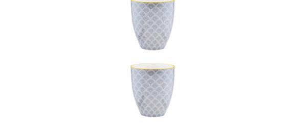 Mug 30cl Flower - 2 pièces - Collection ECLIPSE