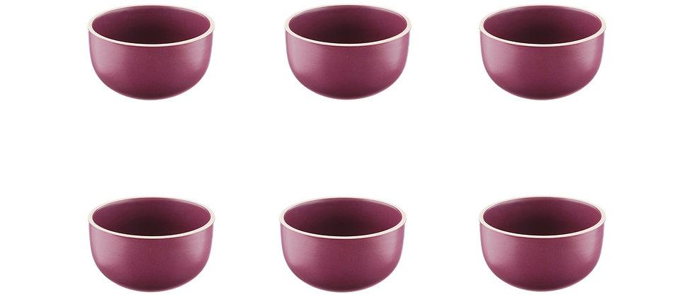Bol ORIGIN Ø9cm - 6 pièces - Prune