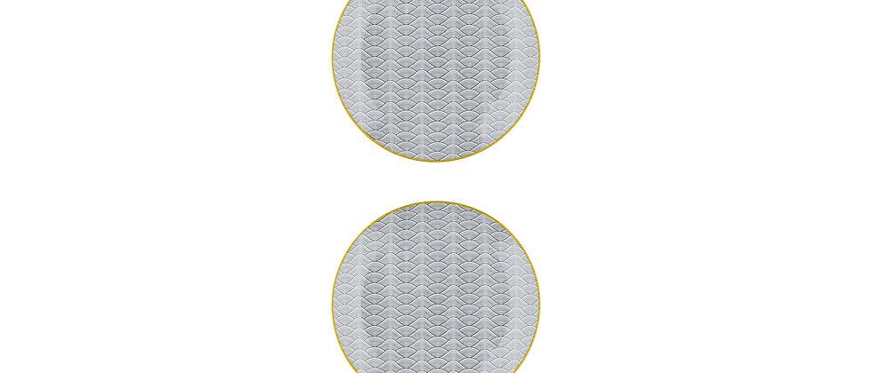 Assiette à dessert Ø21cm Dune - 2 pièces - Collection ECLIPSE