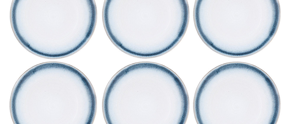 Assiette COSMOS Ø27,5cm - 6 pièces - Azur