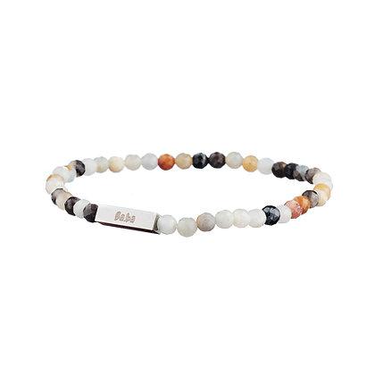 Bracelet Mirabeau blanc - pierres naturelles