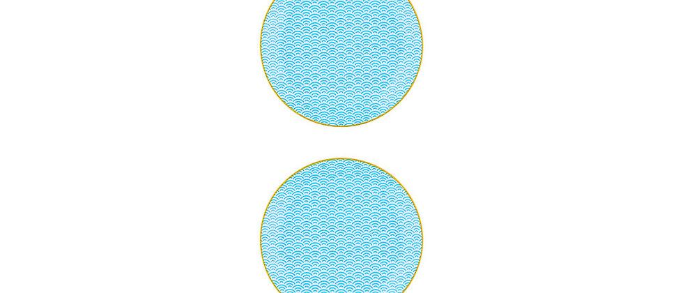 Assiette à dessert Ø21cm Rainbow - 2 pièces - Collection COLOR