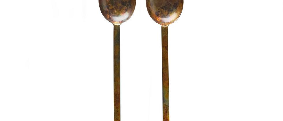 Couverts à salade en métal - Nude