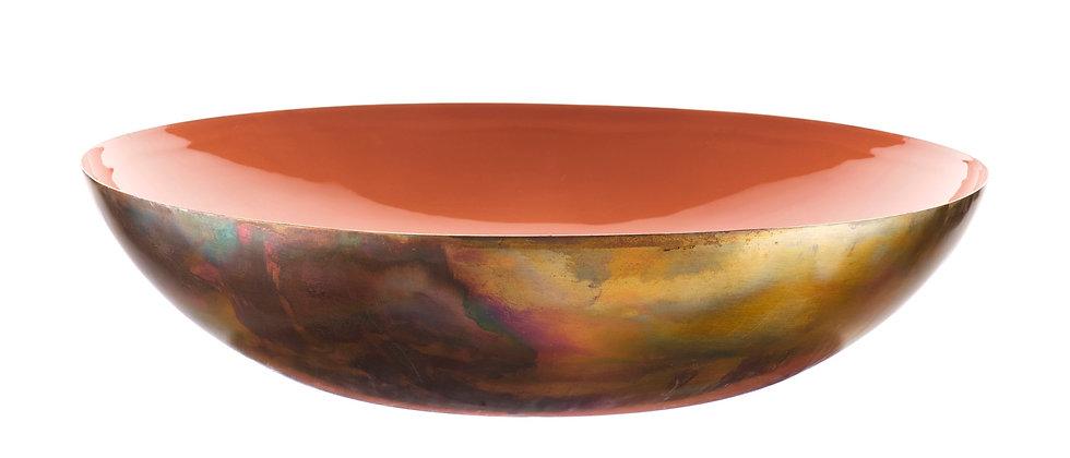 Corbeille à fruits en métal Ø35cm - Terracotta