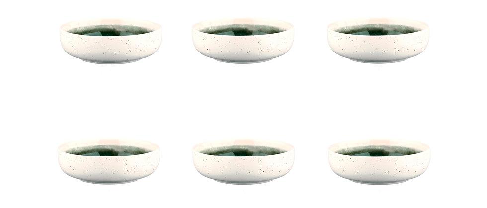 Bol OXYGEN Ø13cm - 6 pièces - Vert de gris