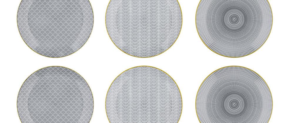 Assiette plate Ø26cm - 6 pièces - Collection ECLIPSE