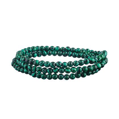 Bracelet Tuileries vert - pierres naturelles