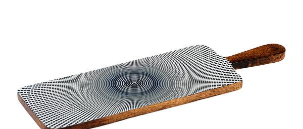 Planche de service en bois de manguier 15x50cm - Sun Dark