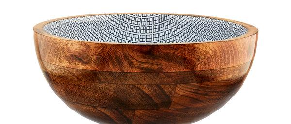 Saladier en bois de manguier Ø30cm - Square Dark