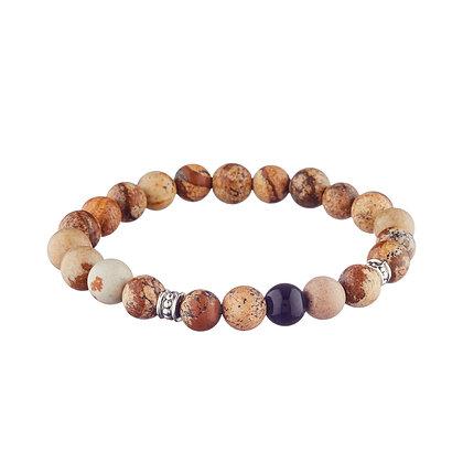 Bracelet Garibaldi - pierres naturelles