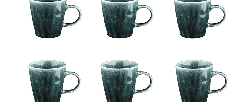 Mug MOON 40cl - 6 pièces - Pétrole