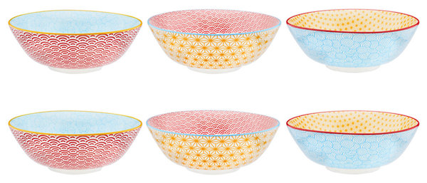 Bol à salade Ø21cm - 6 pièces - Collection COLOR