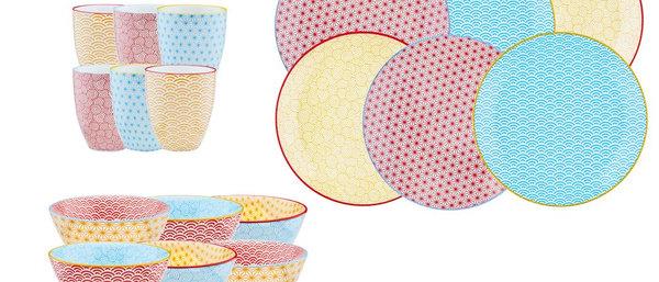 Service Petit-dejeuner - 18 pieces - Collection COLOR