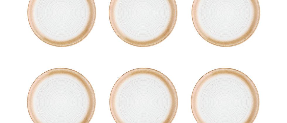 Assiette COSMOS Ø21,5cm - 6 pièces - Crème