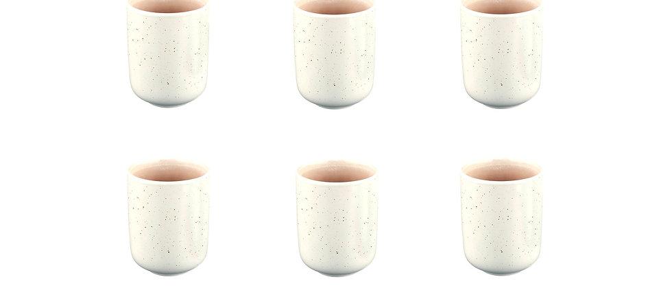 Mug OXYGEN 30cl - 6 pièces - Rose poudre