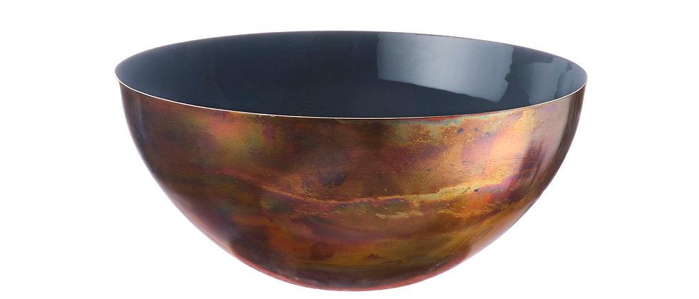 Saladier en métal Ø25cm - Basalte
