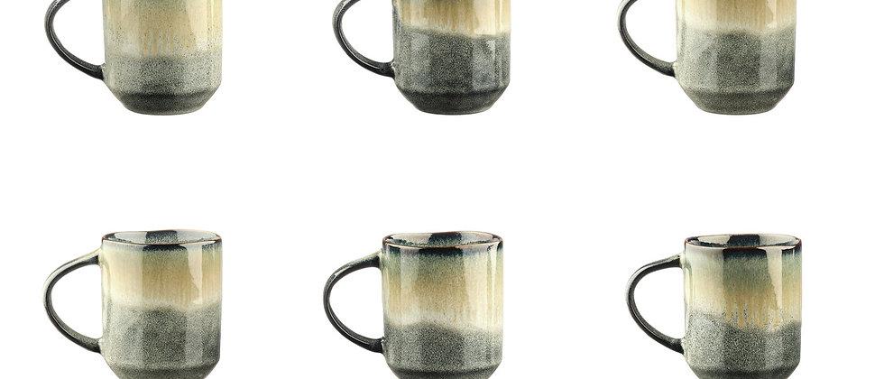 Mug GENESIS 40cl - 6 pièces - Terre