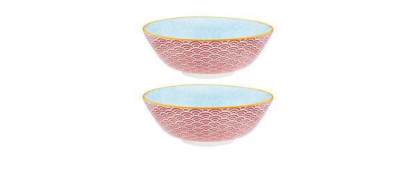 Bol à salade Ø21cm Rainbow - 2 pièces - Collection COLOR